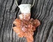 Starburst Arragonite necklace pendant