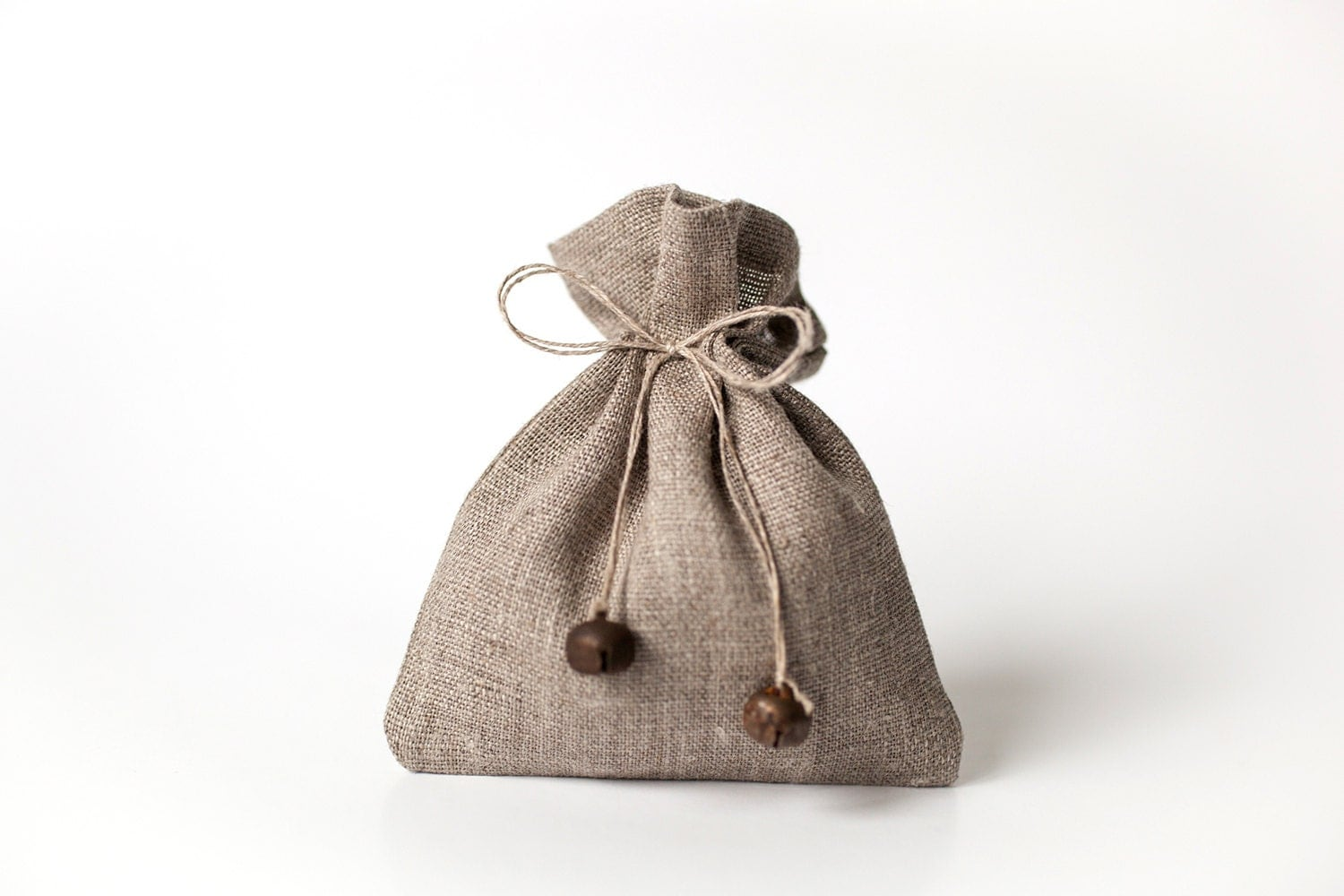 Small Wedding Gift Bags: Linen Wedding Favours Gift Bags Set Of 5 Small By PetitDeLin