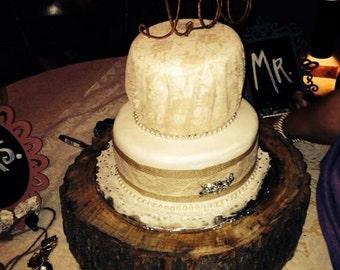 Custom I DO Wedding Cake Topper - Rustic Wedding Cake Topper, Shabby Chic I do Wedding Cake Decoration, Custom Wedding Cake Topper