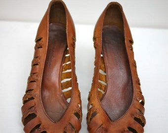 1970s Brown Leather Heel