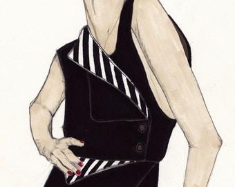 Penthouse & Pavements - Part 1 - Original Signed Paul Nelson-Esch - Drawing Art Illustration - Free Worlwide Shipping