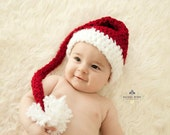 Santa Hat - Baby Santa Hat - Newborn Cute and Soft Earflap - by JoJosBootique