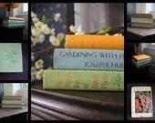 on hold - set of three vintage gardening books