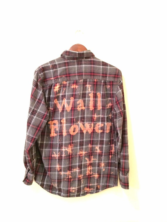 Wallflower Shirt In Grey Plaid Flannel Burgundy Pink The