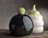 Salt and Pepper Shakers Ready To Ship Stoneware Corkless Salt n' Pepper Shakers by Symmetrical Pottery