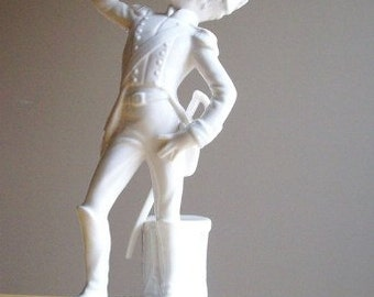 Vintage Goebel Bochmann West Germany French Solider Figurine White Porcelain