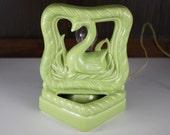 Vintage Green Swan Mod TV Lamp