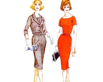 Vintage 1960s Dress Suit Pattern Uncut Size 14 Bust 34 McCalls 5507