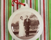 First Married Christmas Custom Ornament