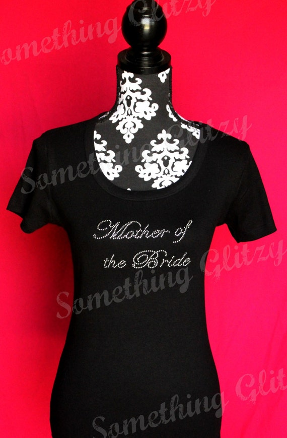 Mother of the Bride Rhinestone Tank, Mother of the Bride Shirt, Mother of the Bride Tee, Mother of the Bride Bling Shirt