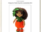 Pumpkin Doll pattern - pdf crochet toy amigurumi tutorial