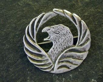Sterling Silver Eagle Brooch