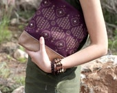 Moroccan Pattern Printed  Leather Pouch No. ZP-802