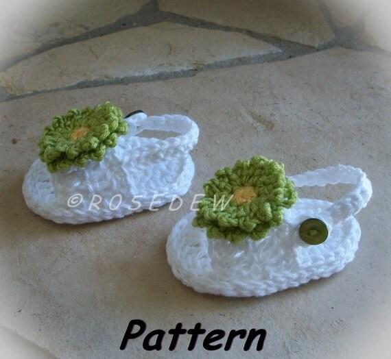 Instant Download for PDF Crochet PATTERN: Back Strap Summer Baby Sandals for BOY or G I R L