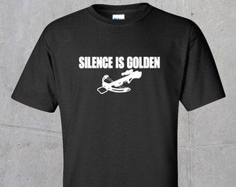 Silence is Golden T-shirt (The Walking Dead inspired) - white