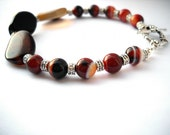 Sardonyx bracelet: The Dragon's Eye - sardonyx, red and black bracelet, unisex bracelet, men's jewelry, sardonyx jewelry, dragon jewelry
