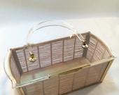 Vintage 50's Majestic Lucite Basket Purse