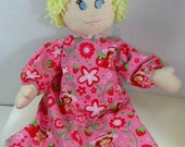 Cloth doll  fabric doll homemade