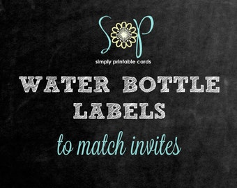 Water Bottle Labels to Match any Card in My Shop
