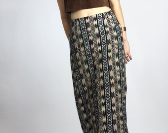 35% OFF Carpet Bag Maxi Skirt Vintage Gypsy Long Southwestern Skirt