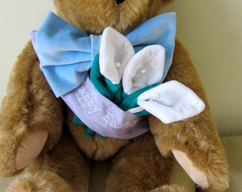 Vermont Easter Bear, vintage Easter gift, Easter bear, vintage Easter bear, Vermont teddy bear, boho Easter gift, collectable Easter