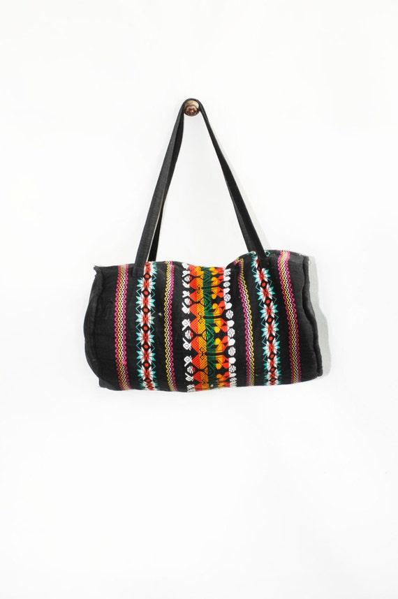 Vintage Ethnic Embroidered Duffle, Weekender Bag