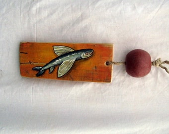 fish painting #2, food, art, whimsical decor, kitchen art, wall art