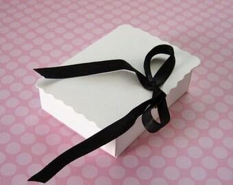 5 Mini White Book Boxes 2 3/4 x 2 1/8 x 3/4 inches - Favor or Small Gift Box