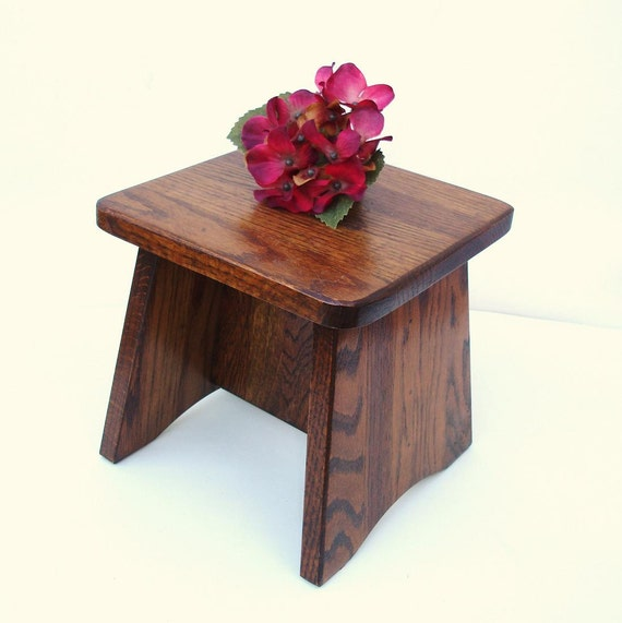 Vintage small wood bench wooden step stool child chair plant stand
