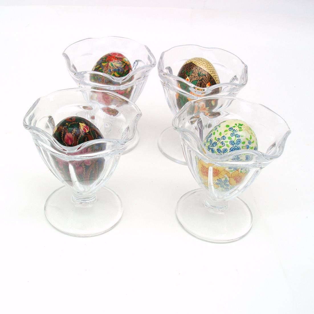vintage sundae glasses ice cream dishes egg by whimzythyme. Black Bedroom Furniture Sets. Home Design Ideas