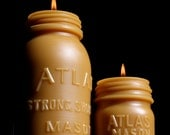 NEW Beeswax Candle - XL Atlas Mason (One Candle Only) - Bottle/ Jar Shaped. 1900's Lg.