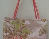 Blush Floral Brocade Mini Handbag