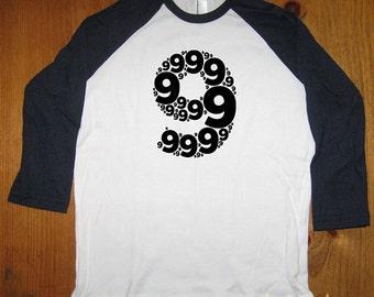 Birthday Shirt - 9 year old shirt - 9th birthday - Birthday Party Shirt - Raglan Tee Shirt - Nine Shirt - Gift Friendly - Girl or Boy