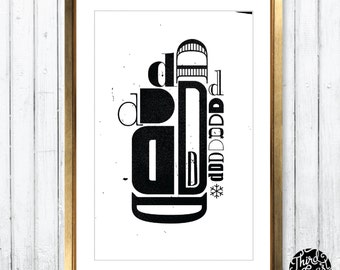 Letter D Type Specimen Art Print - 11x17 Wall Poster