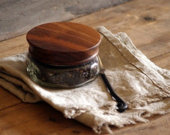 Wood Mason Jar Lids [2], Pantry Jar Lids, Wood Top for Glass Jars, Canning Jar Tops, Pantry Organization, Storage Display