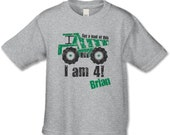 Get a load of this... I am 4!  Personalized 4th Birthday T-Shirt - Construction Theme Party - Dump-truck Birthday Party - Birthday Shirt