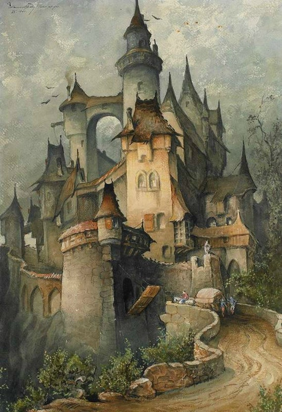 Romantic Castle Cross Stitch Pattern Pdf Format