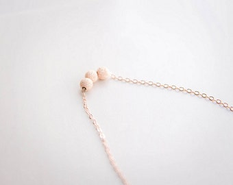 Rose Gold Stardust Necklace . dainty minimal necklace . rose gold filled