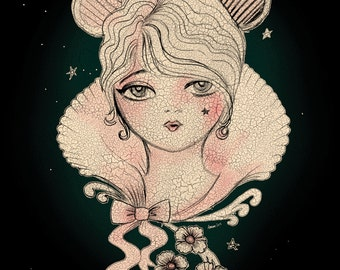 "Night Mouse - 8"" x 10"" Original Artwork Print"