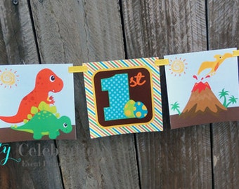 Personalized Square Word Banner-Dinosaur-Birthday -Baby Shower -Dino Banner -Dino Party -Dinosaurs