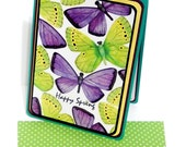 Happy Spring Butterflies 3D Card with Matching Embellished Envelope