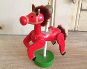 Wooden Carousel Horse Christmas Tree Ornament