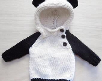 Panda Jumper : Newborn, 3m, 6m