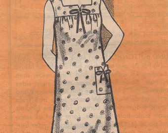 Bust 41-1960's Misses' Full Figure Dress Mail Order Pattern 9049 Size 18 1/2