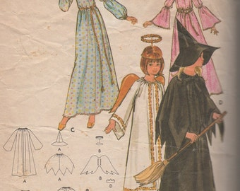 1960's Misses Witch, Angel, Princess and Fairy Godmother Costumes Butterick 4938 Size 16 Bust 38