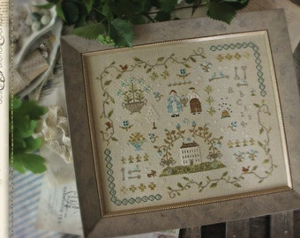 Heart of the Home Sampler : Country Stitches With Thy Needle counted cross stitch patterns prim hand embroidery
