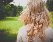 Theda Headpiece - Bridal headband 18k - hair chain art nouveau - great gatsby 1920s - renaissance victorian reign tiara - MADE TO MEASURE
