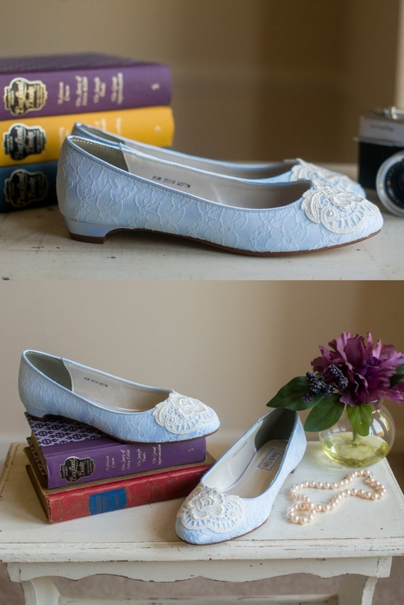 Lace Wedding Shoes Ballet Flats Low Heel Short Heel Bridal