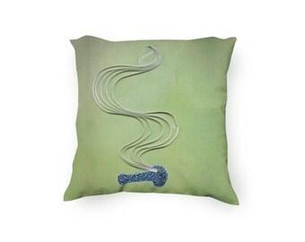 Marijuana Pillow, Pot pillow, Pipe paper art printed on a pillow cover, lit bowl illustration, Cannabis pillow, Velveteen Pillow Cover Only