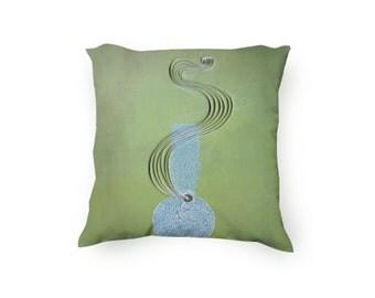 Marijuana Pillow, Pot pillow, Bong paper art printed on a pillow cover, bong illustration, Cannabis pillow, Velveteen Pillow Cover Only